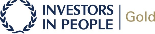 Logo for being an Investors In People Gold Standard employer