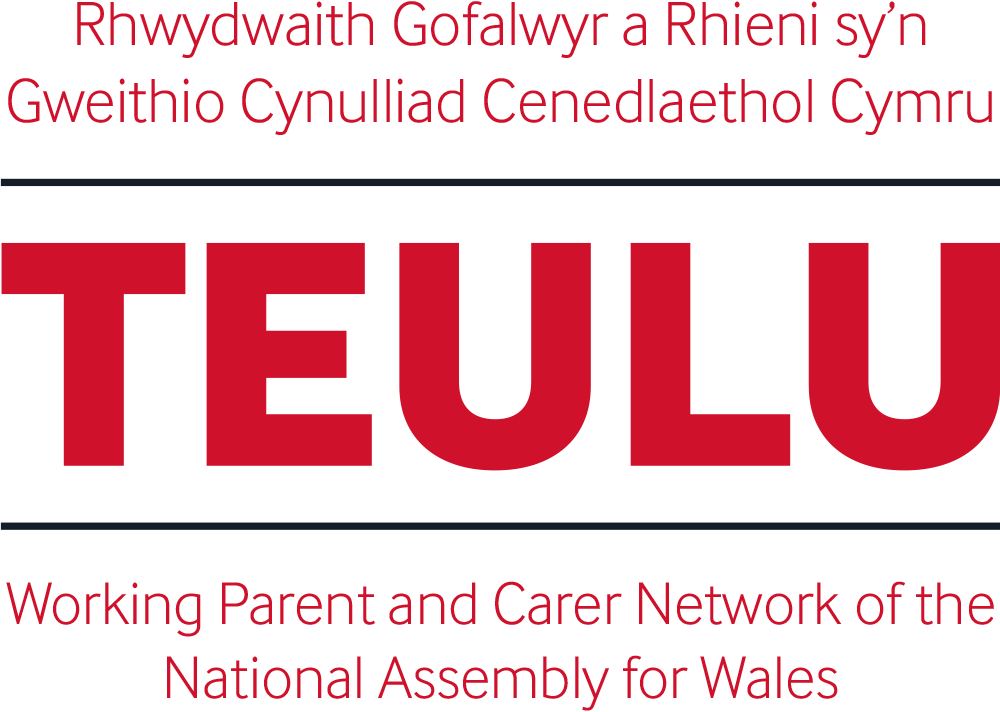 Logo for TEULU, the Assembly's network for working parents and carers